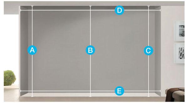 diagram showing how to measure a bi-fold door
