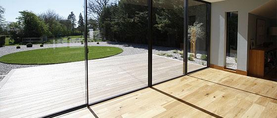 glass wall inside