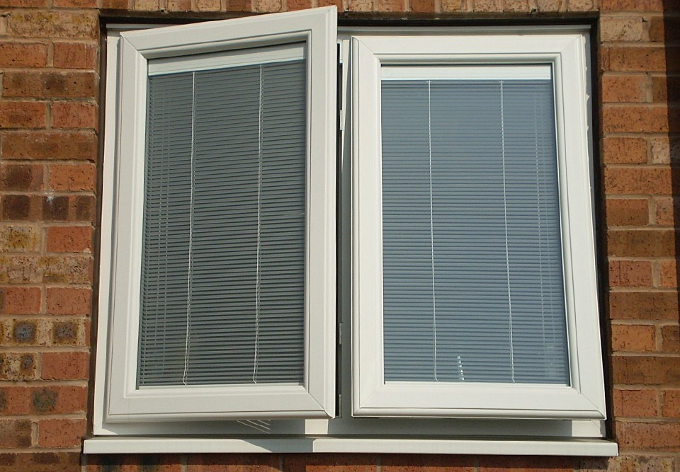 integral blinds in a window
