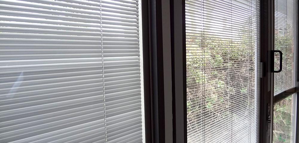 integral blinds in a bi-fold door