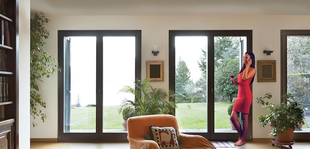 roof lantern and sliding doors