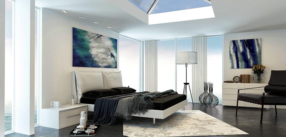 roof-lantern in a bedroom