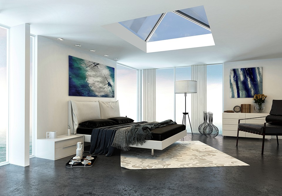 roof-lantern in a bedroom