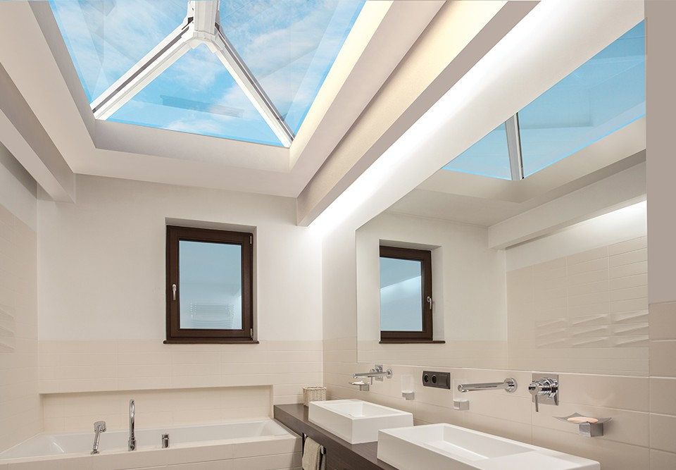 roof lantern in a bathroom