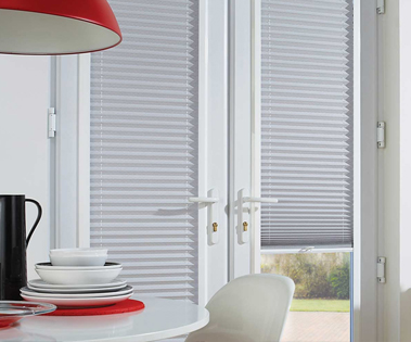 s-system internal blinds in a french door