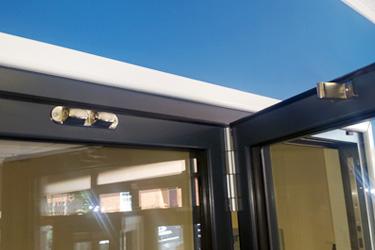 Schuco bi-fold door hardware catch