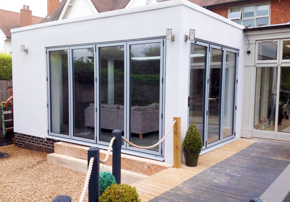 3 pane and 4 pane Aluminium Bi-fold doors