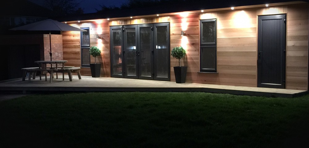 Aluminium Door and windows in a garden room