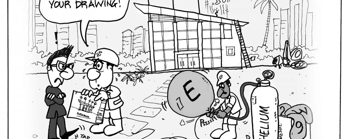 architect and builder cartoon