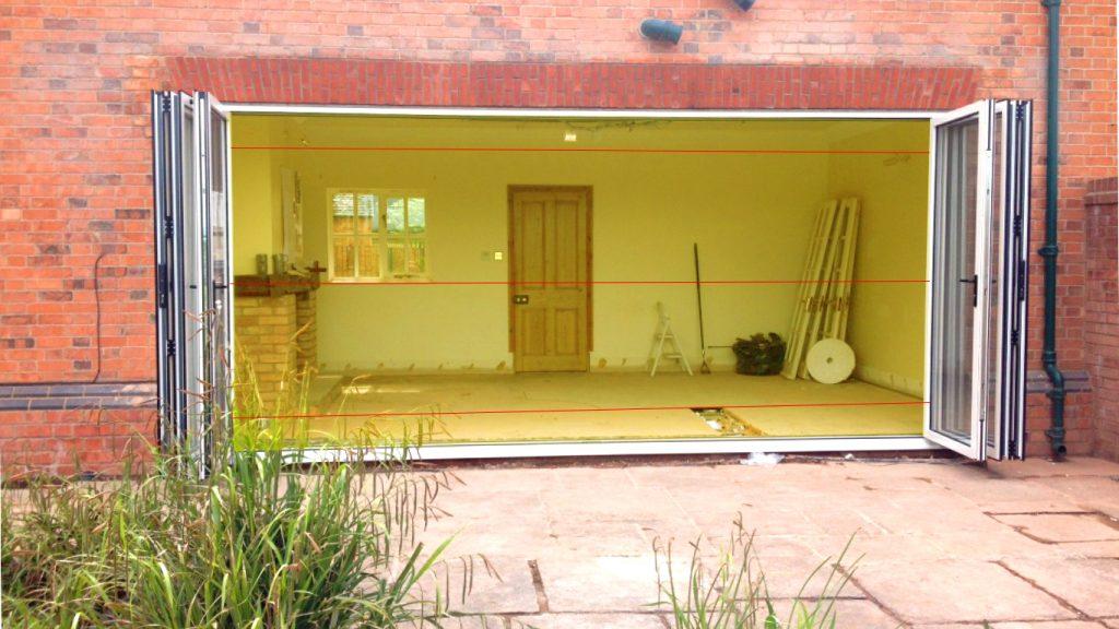 horizontal measurements bifold doors